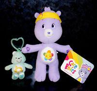 NEW CARE BEAR HARMONY PLUSH Headband Purple Stuffed Wish Cheer Keychain Ring Toy