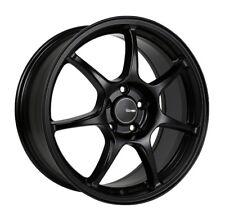 17x7.5 Enkei FUJIN 5x112 +45 Black Rims Fits VW cc eos golf rabbit