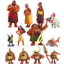 12pcs Moana Figure Maui Pua Heihei Waiali Princess Doll Play Set Toy Cake Topper