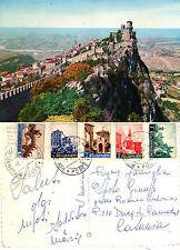 CARTOLINA DA COLLEZIONE REPUBBLICA DI SAN MARINO PANORAMA VIAGGIATA ANNO 1963