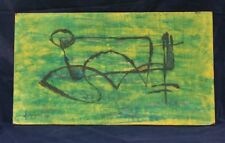 Michel Guignard Tableau abstrait 1975 artiste Comtois Menouille Jura