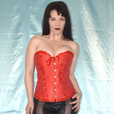 Fiery Red Corsage S-M Satin Full-Breast Corsage Top Lingerie Sexy Lingerie