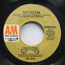 Pop 45 Carpenters - Superstar / Bless The Beasts And Children On Am Records