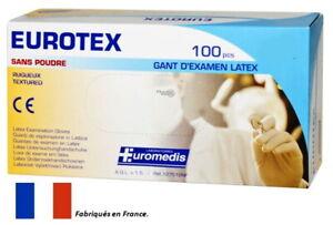 100 gants latex de qualité supérieure. Protection pollution, bactéries, virus...