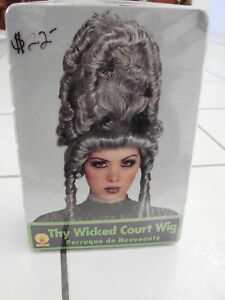 Victorian Gothic Ghost Thy Wicked Court Vampire Adult Costume Wig Beehive Gray
