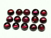 15 Pc Lot Natural Rhodolite Garnet Round Cabochon Loose Calibrated Gemstone 4 MM