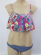 ROXY Ladies 2 Piece Coachella Bikini Swimwear Swimsuit Sizes 6 8 Multi Colour 10