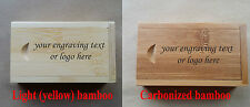 Personalised gift bamboo laser engraved 16GB usb flash drive with box