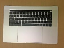 """Macbook Pro A1707 2016-2017 15"""" Silver Touch Bar Top Case Assembly 661-06378"""