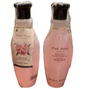 2 PACK Perlier Pink Peony Bath & Shower Gel 8.4 oz - 250 mL Each -  Sealed