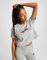 New Ellesse Rainbow Tape Crop T-Shirt