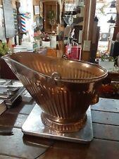 Vintage Metal Copper Coated Coal Bucket