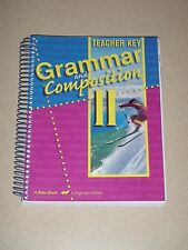 ABeka 8th Grade GRAMMAR & COMPOSITION II Teacher Key Fourth Edition