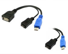 USB power Charge & Micro USB OTG Host Cable for Samsung i9100 i9300 i9220 N7100