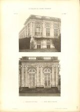 Grand Trianon Face au Canal Terrasse Château de Versailles GRAVURE PRINT 1899
