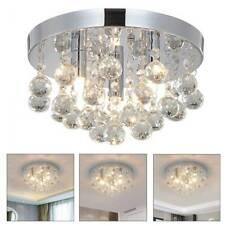 LED Round Crystal Ceiling Chandelier Lamp Modern Minimalist Living Room Lights