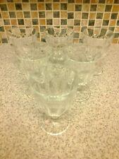 6 x Arcoroc small MilkShake Knickerbocker Glory footed Glasses Dishes Bowls
