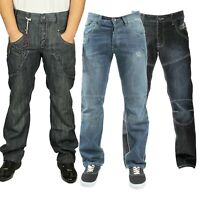 ETO Mens Straight Leg Jeans Casual Denim Pants Work Trousers Sizes 28 - 48
