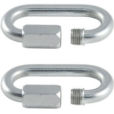 2x - 4mm Stainless Steel Quick Link – Wire Rope/Chain Link Carbine Screw Loop