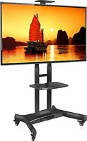 ONKRON Mobile TV Cart TV Stand w/Mount for most 32 to 65'' Flat Screens up t...