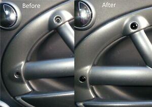 mini one cooper s R50 R52 R53 interior door handle trim screw head cover inserts