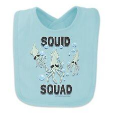 Squid Squad Ocean Aquatic Funny Humor Baby Bib