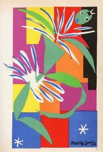 """Danseuse Creole, papier colle, 1950"" BY HENRI MATISSE –1958 ENGRAVING (4A-C-09)"