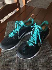 Nike Free 3.0 Men's Black Turquoise Blue Running Sneaker 11.5 bx24