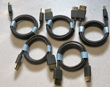 Five pack of 5' Ultra HDMI 2.0, Gold-Plated HDTV-1080p-4K-3D OEM (Verizon FIOS)