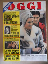 OGGI n°9-10 1971 Grace Kelly Mastroianni & Deneuve Marie Claude Beaumont [C57A]