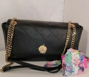 BETSEY JOHNSON Shoulder Black  Bag  Quilted Scarf  Handbag  purse NWT