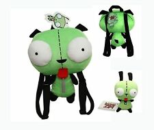 Set of 2 Alien Invader Zim Robot Gir 3D Eye Plush Doll Backpack Bag US Ship