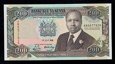 KENYA  200  SHILLINGS 1989 AB  PICK # 29a UNC LESS.