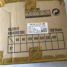 "1200x 2000 Grit HANKO Wet Dry Sandpaper 5"" Disk Velcro No Hole 26-2510-2000"