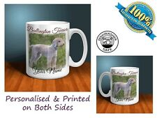Bedlington Terrier Personalised Ceramic Mug: Perfect Gift. (D025)