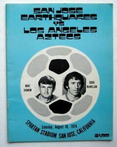 San Jose Earthquakes vs. Los Angeles Aztecs, 1974 NASL Soccer Program