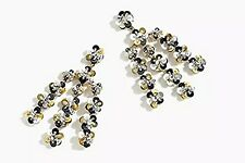 JCREW SEQUIN DAISY CHANDELIER GOLD EARRINGS--NEW WITH TAG--SRP $65