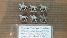 15mm Heritage  Miniatures French Napoleonic Artillery Horse Teams & Drivers