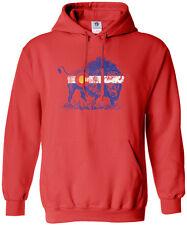 Threadrock Women's Buffalo Colorado Flag Hoodie Sweatshirt Denver State