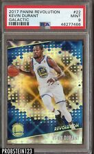 2017-18 Panini Revolution Galactic #22 Kevin Durant Golden State Warriors PSA 9