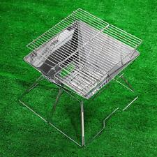 TOMSHOO Outdoor Stainless Steel Assembled Barbecue BBQ Grill Charcoal AH Q7C4