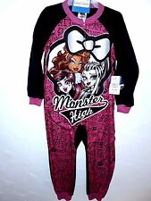 cc3d99841b Monster High Girls Sleeper Size XS 4 5 Long Sleeve 1 Piece Flame Resistant