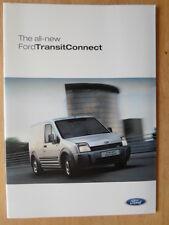 FORD TRANSIT CONNECT orig 2002 2003 UK Mkt Sales Brochure - SWB LWB LX