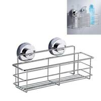 Shower Caddy Storage Bathroom Basket Shelf Suction Cup Kitchen Stainless Steel Y