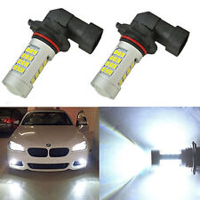 2x 9006 HB4 Samsung LED Fog Light Bulb 80W 42SMD Projector 6000K Xenon White DRL