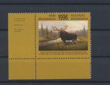 LO64140 Canada 1996 New Brunswick wildlife federation corners MNH