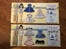 2 New Vintage Betsy McCall From The 50's Wooden Paper Dolls