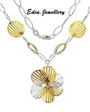US$249 Pleasant Brand New Flower Necklace Made in 10K/925 Gold Plated Silver Box