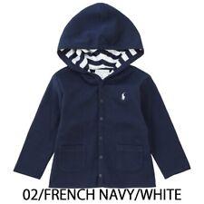 Ralph LAUREN Bebé Niños Niñas Reversible Chaqueta con capucha de Superdry en azul marino con botones