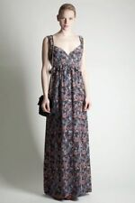 Cool French Connection Phoenix Bird Print Silk Maxi Dress Size 6/8
